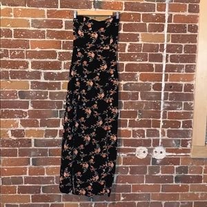 Charlotte Russe strapless floral maxi